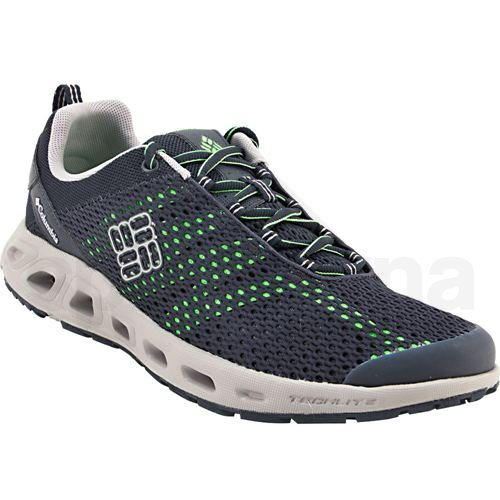 Mens Columbia Drainmaker 3 Water Sandals - Collegiate Navy Green Mamba 3074_LRG
