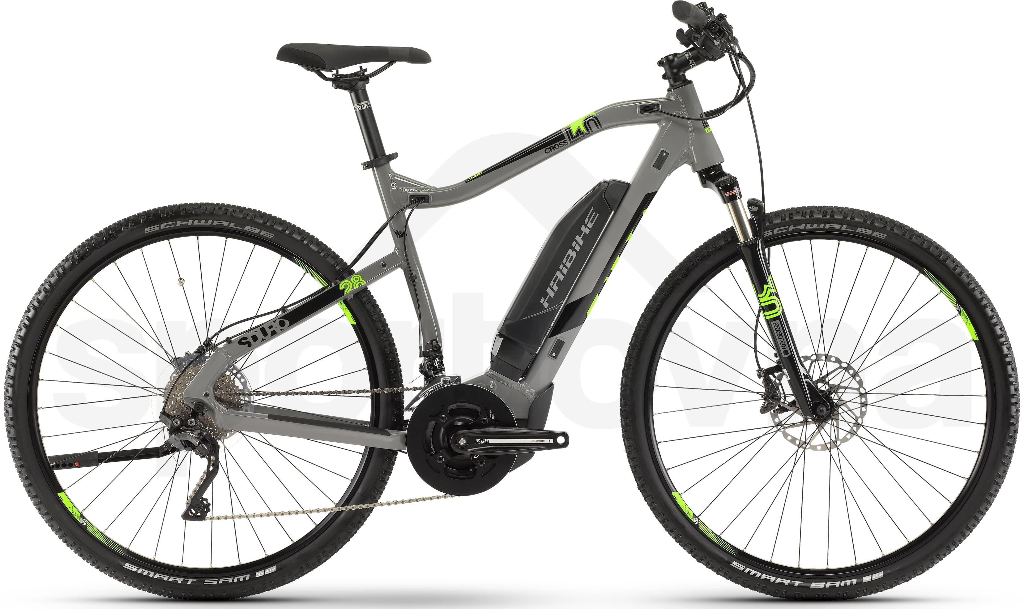 4aaa10229f7 Haibike SDURO Cross 4.0 2019 grey/black/green - Sportovna
