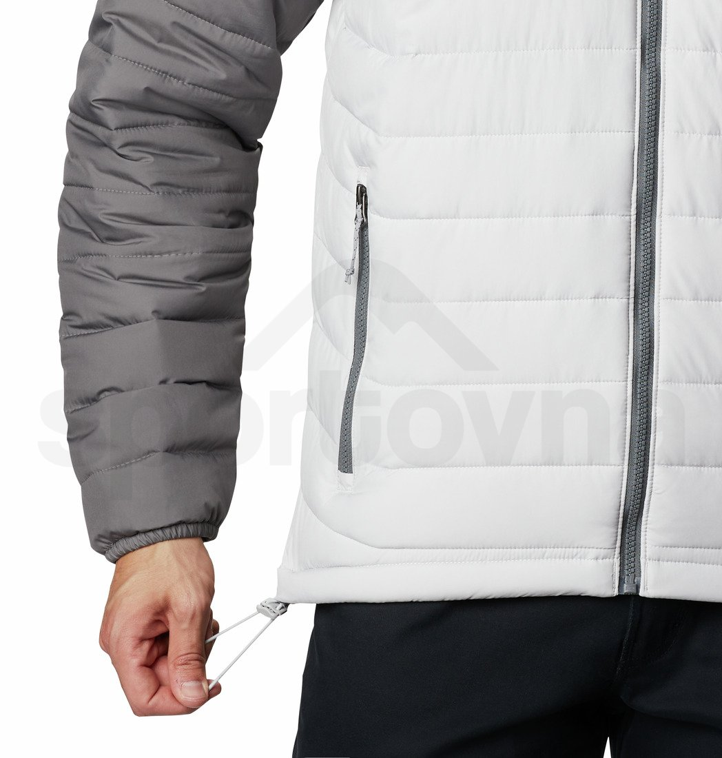 Bunda Columbia Powder Lite™ Hooded Jacket - šedá