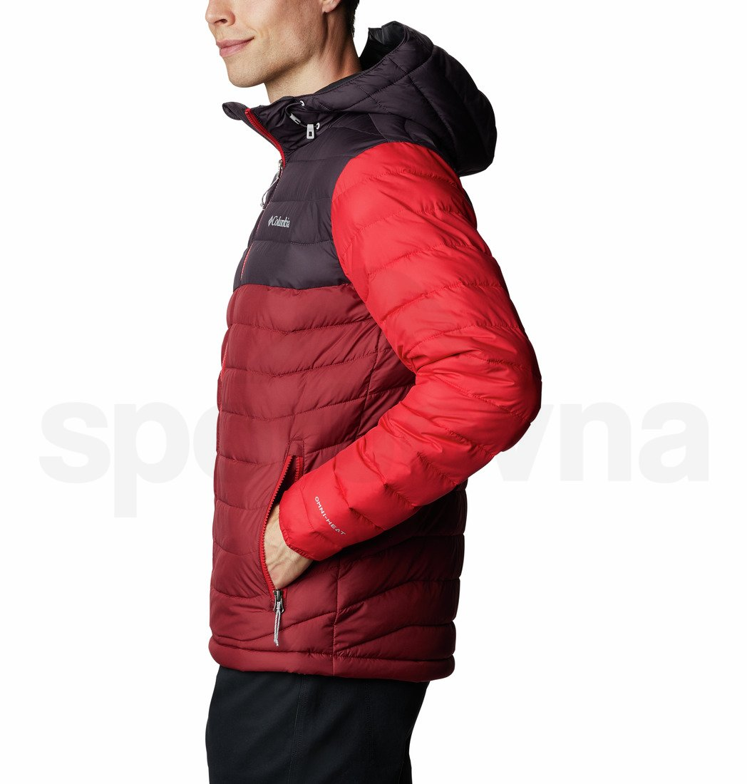 Bunda Columbia Powder Lite™ Hooded Jacket M - červená