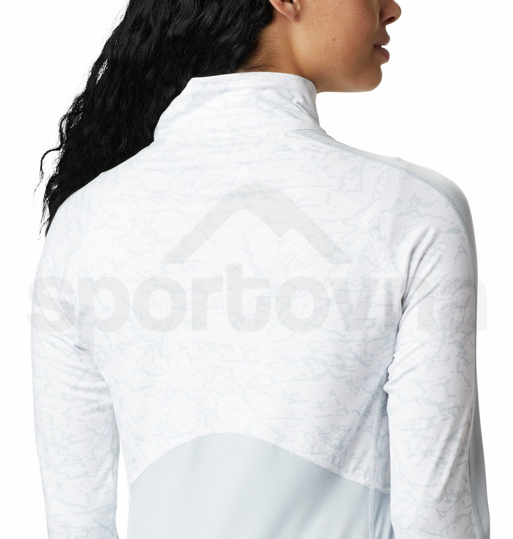 Mikina Columbia Winter Power™ 1/4 Zip Knit W - šedá/bílá