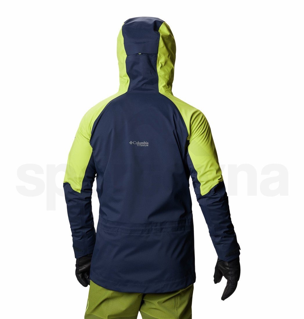 Bunda Columbia Peak Pursuit™ Shell M - modrá/zelená