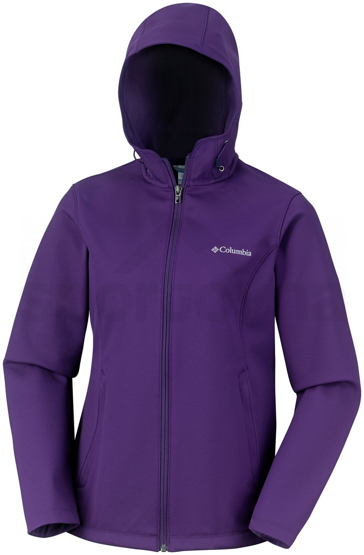 Bunda Columbia Kruser Ridge™ Hooded Softshell W - fialová