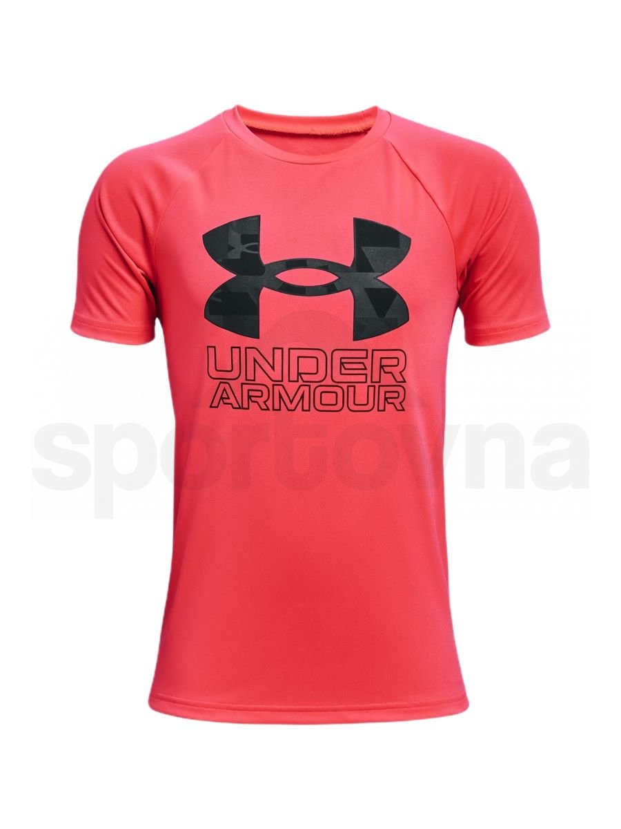 Tričko Under Armour Tech Hybrid Prt Fill SS J - červená