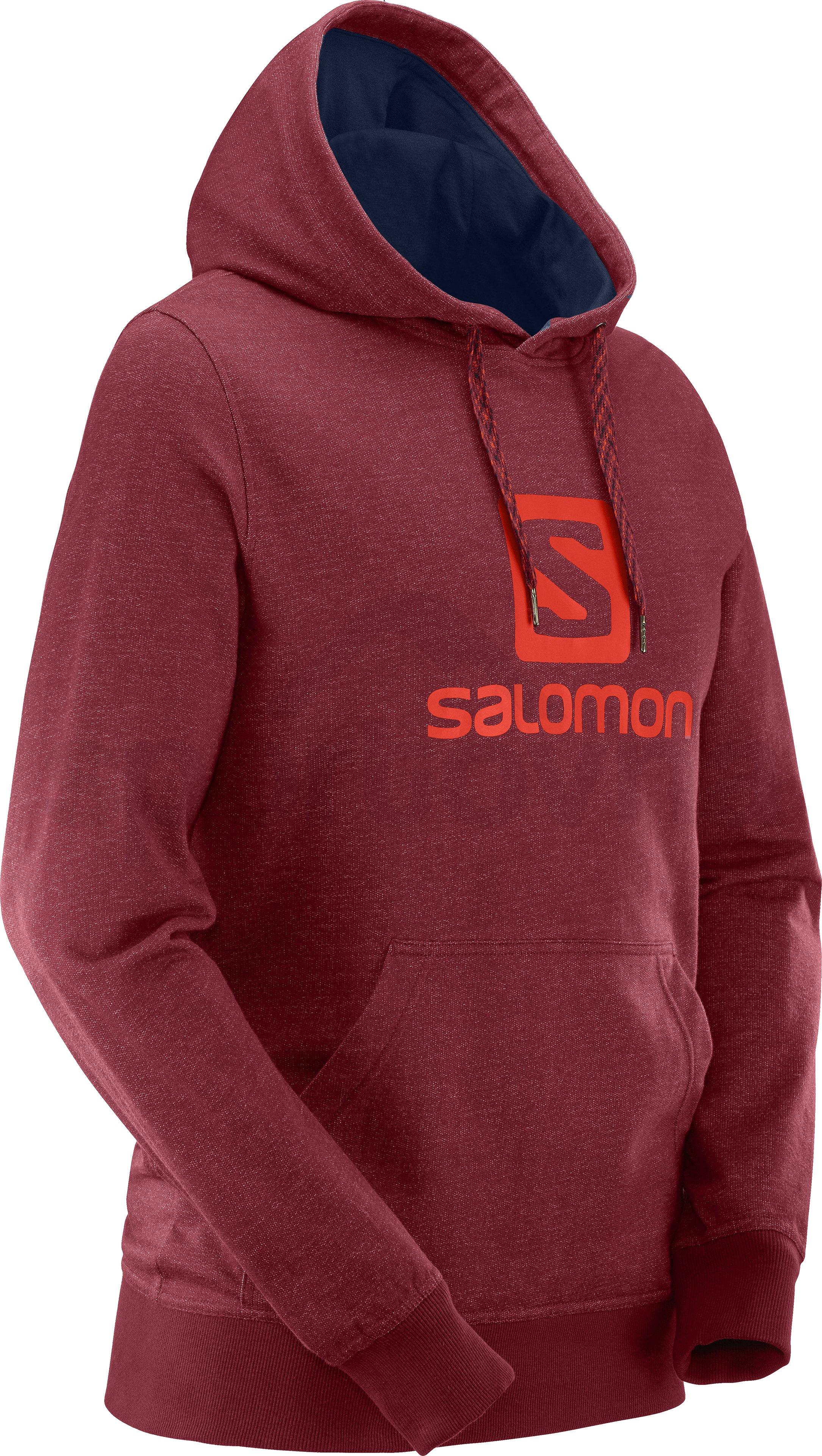 72f12cf2cd Pánská sportovní mikina Salomon LOGO HOODIE M Biking Red - LC1053300 ...